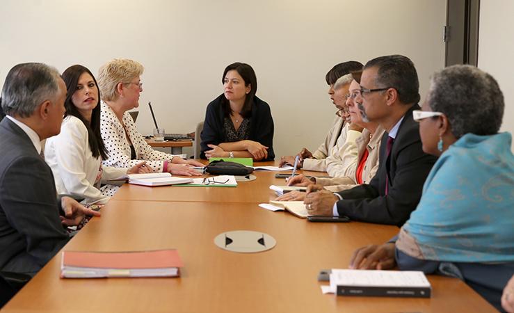 Hon. Maite Oronoz se reúne con la Comisión Asesora de Acceso a la Justicia