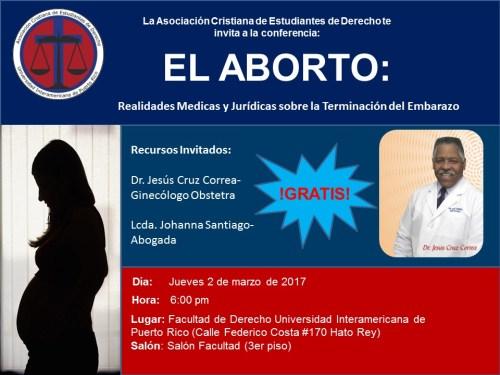 Inter Derecho invita a conferencia de realidades médicas y jurídicas sobre la terminación del embarazo