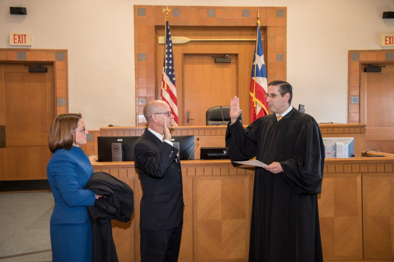 Marshal D. Morgan Sworn-in as New Magistrate Judge for the United States District Court for the District of Puerto Rico