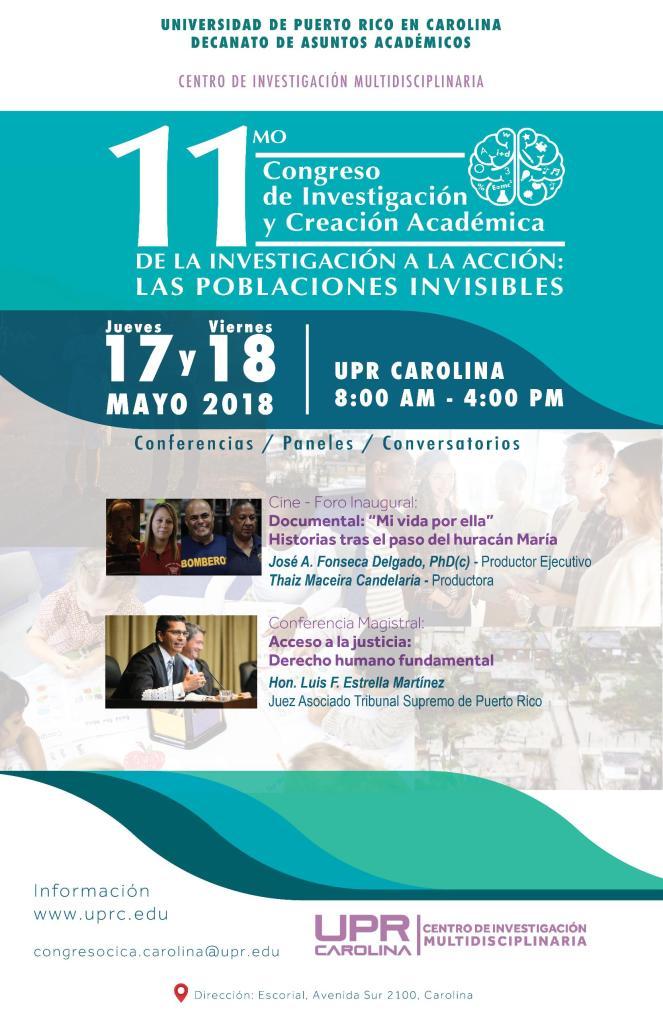 Congreso de investigación y creación en la Universidad de Puerto Rico en Carolina