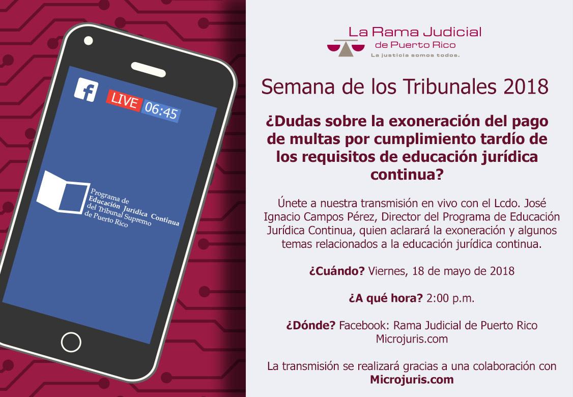 Transmisión en vivo: ¿Dudas sobre la exoneración del pago de multas por cumplimiento tardío de los requisitos de educación jurídica continua?