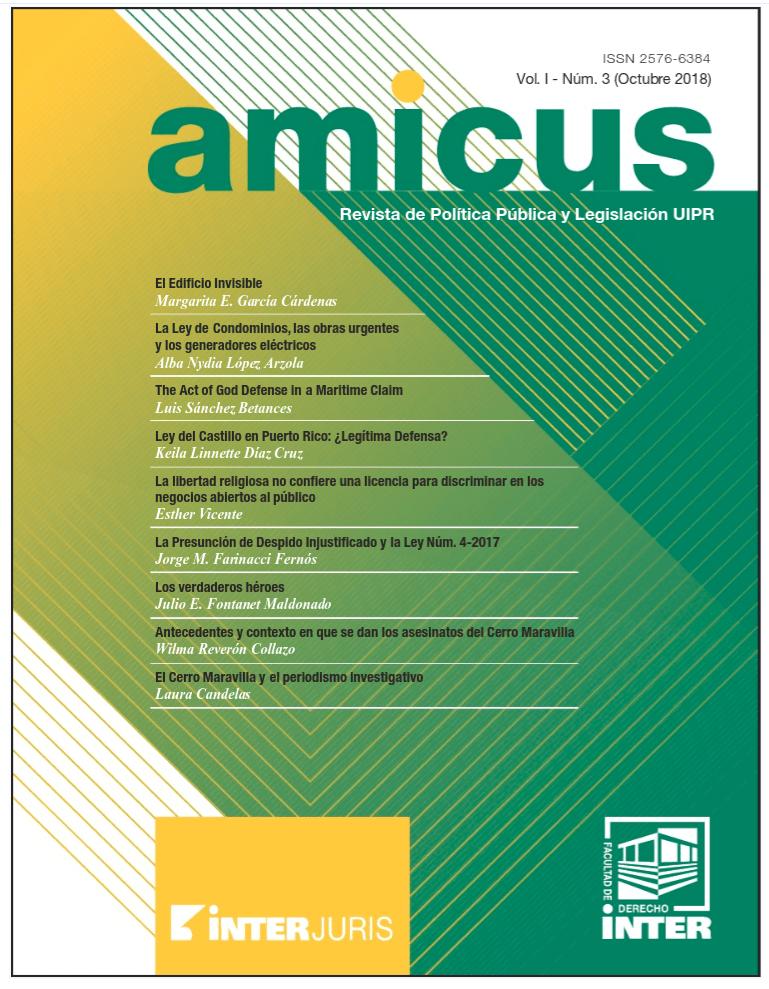 Inter Derecho: Última edición revista jurídica AMICUS