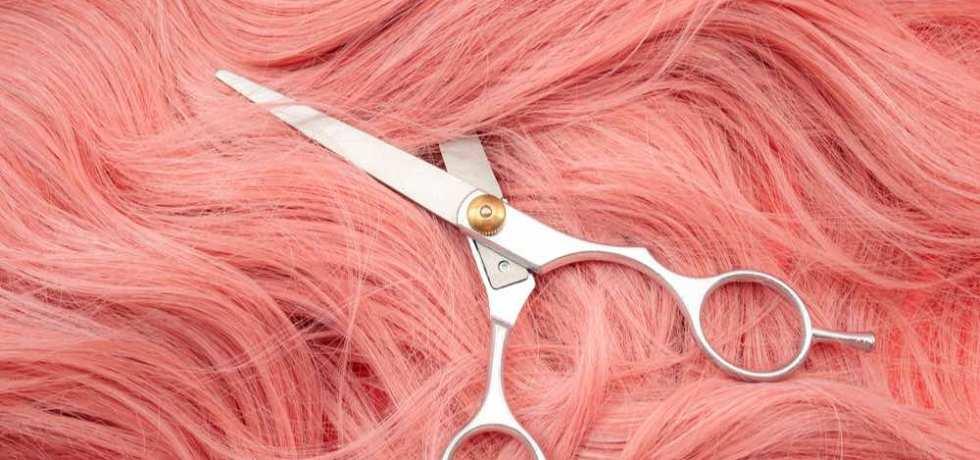 cosplay cabello rosado tijeras