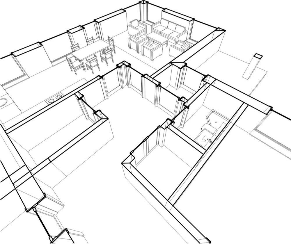 plano interior apartamento apartamentos
