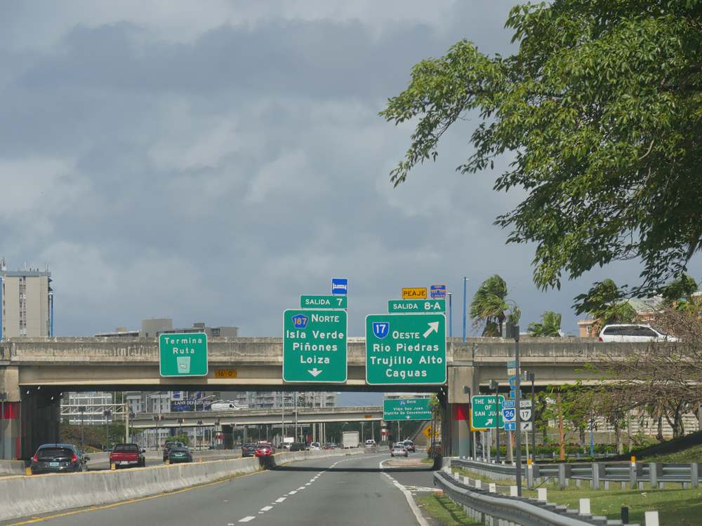 carros carretera Puerto Rico multas isla verde