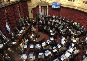 Vista parcial del recinto de la Camara de Senadores durante la sesion donde se debate la reforma del Codigo Procesal Penal en el Congreso Nacional, en Buenos Aires, el 19 de noviembre de 2014. (ALEJANDRO PAGNI / PRENSA SENADO)