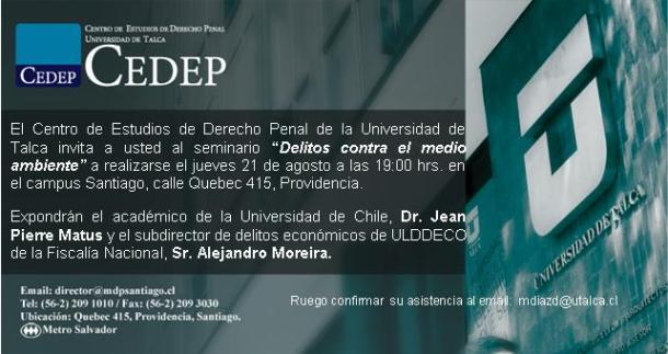 Invitación Seminario M.A. 2014
