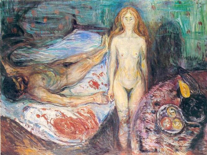 Edvard Munch - La morte di Marat, 1907