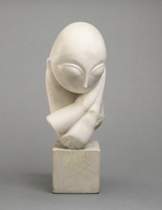 Constantin Brancusi - Portrait of Mlle Pogany 1912 Philadelphia Museum of Modern Art