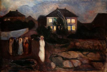 Edvard Munch - the-storm