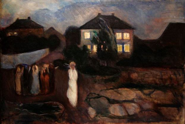 Edvard Munch - the-storm