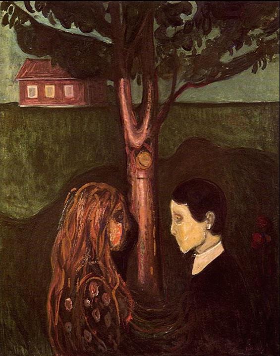 Edvard Munch - eye in eye 1894