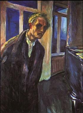 Edvard Munch - uomo passeggia di notte