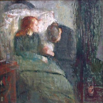 Edvard munch-La fanciulla malata