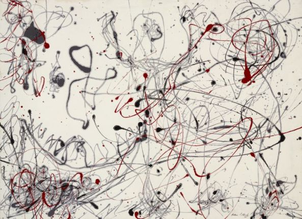Jackson Pollock - number-4-gray-and-red-1948