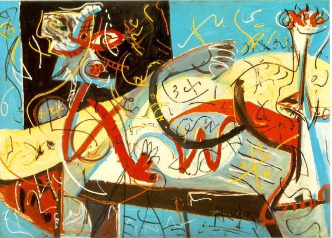 Jackson Pollock - stenographic