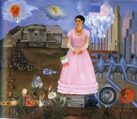 Frida Kahlo-Self-Portrait-on-the-Border-Line-Between-Mexico-and-the-United-States-1932