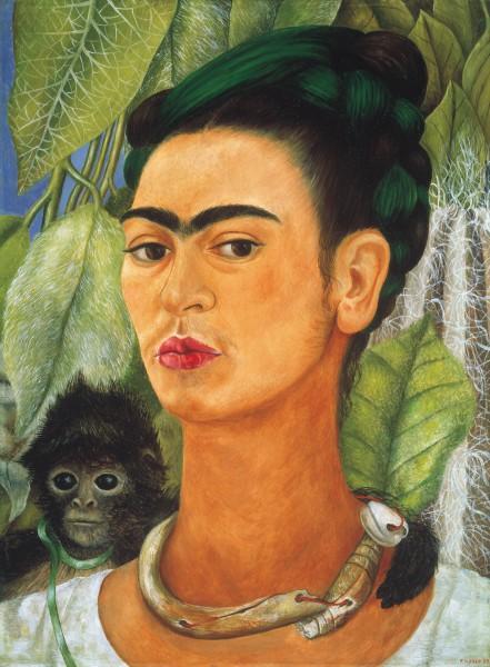 Frida Kahlo - selfportrait with monkey
