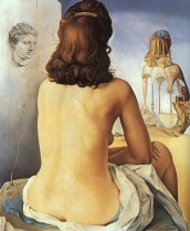 Salvador Dalì - 1945 My_wife_nude_contemplating_her_own_flesh_becoming_stairs