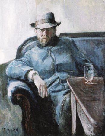 Edvard Munch - Portrait-de-lauteur-hans-jaeger-forfatteren-hans-jaegger