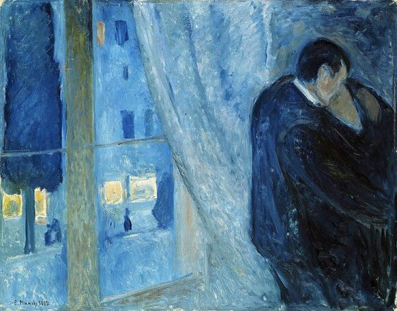 Edvard Munch - Bacio alla finestra, 1892
