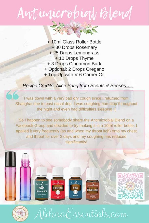 YL, Young Living, Infection, Dry Cough, Essential Oils, Natural Remedy, Lemongrass, Thyme, Oregano, Cinnamon Bark, Thieves, Rosemary