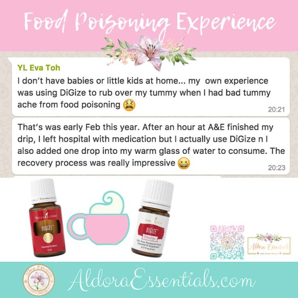 Digize, YL, Young Living, Food Poisoning, Stomachache