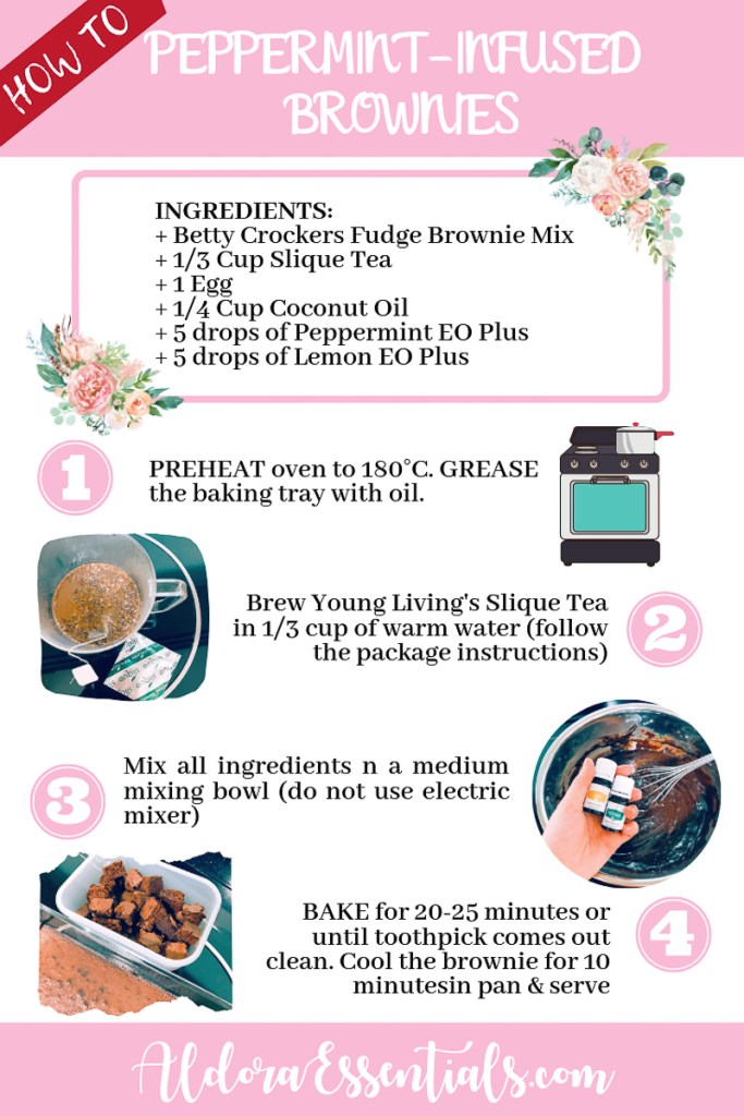 YL, Young Living, Essential Oils, Cooking, Brownie, Peppermint