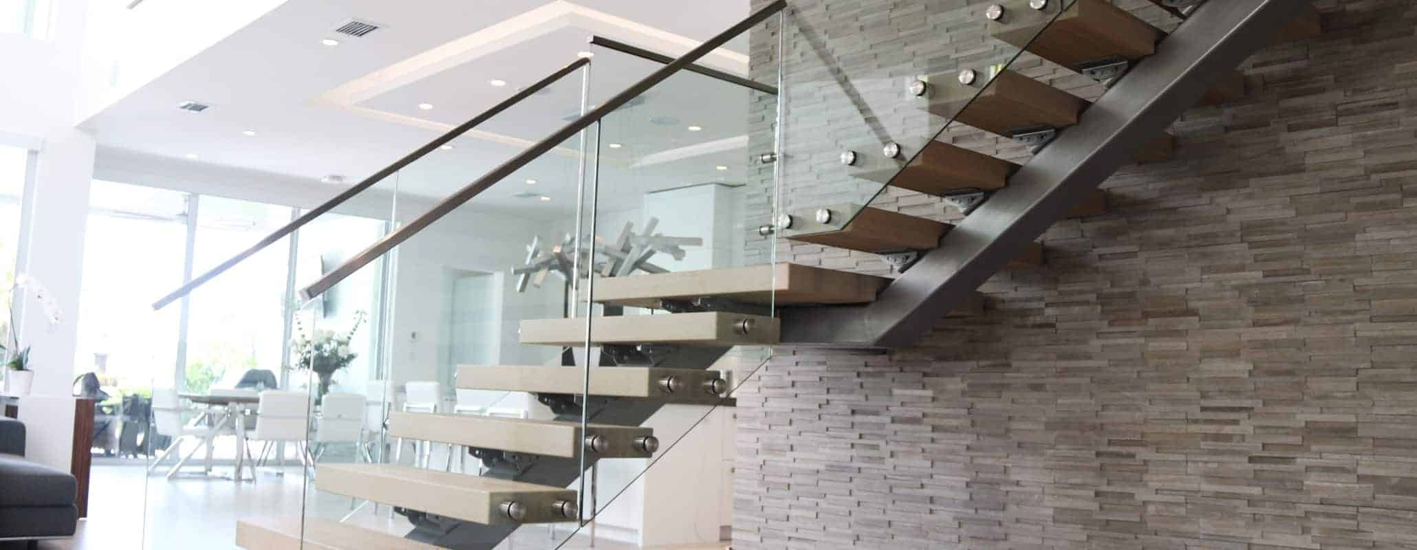 Glass Railings For Interior And Exterior Use By Aldora | Tempered Glass Panels For Stairs | Metal | Glass Balustrade | Newel Post | Acrylic | Bannister