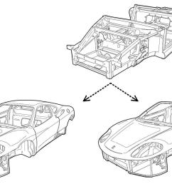 ferrari 360 chassis [ 1488 x 905 Pixel ]