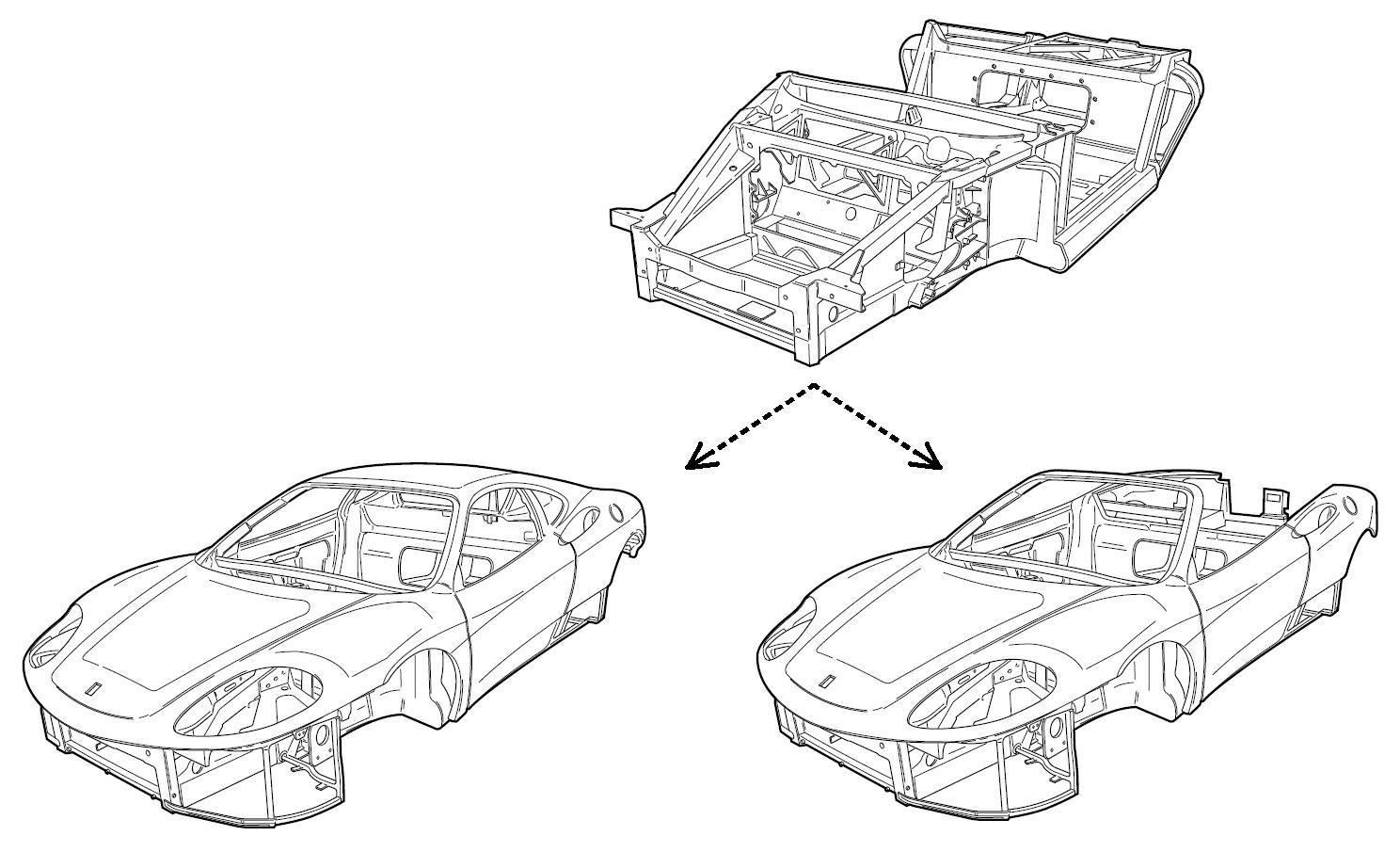 hight resolution of ferrari 360 chassis