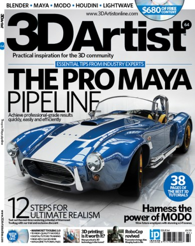 Cover Art I made for the February 2014 issue of 3D Artist Magazine.
