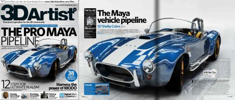 Image and tutorial featured on the cover of 3D Artist Magazine, issue #64