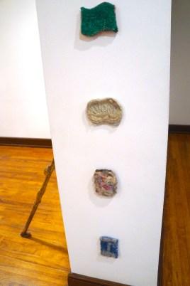 Detail of Sponge Gate (Aldrich), borax on wool, 2017.