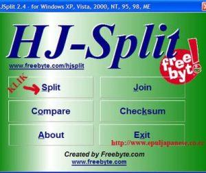 Cara Membagi File Dengan HJSplit