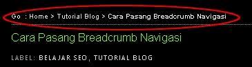 Cara Membuat Breadcrumb Tanpa Plugin