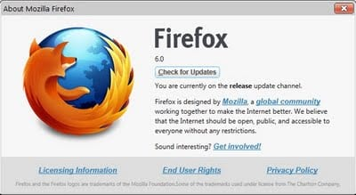 Download Mozilla Firefox 6 Beta