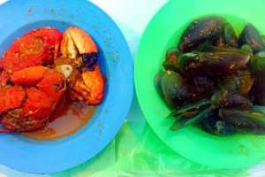 Kerang Hijau & Kepiting Mini