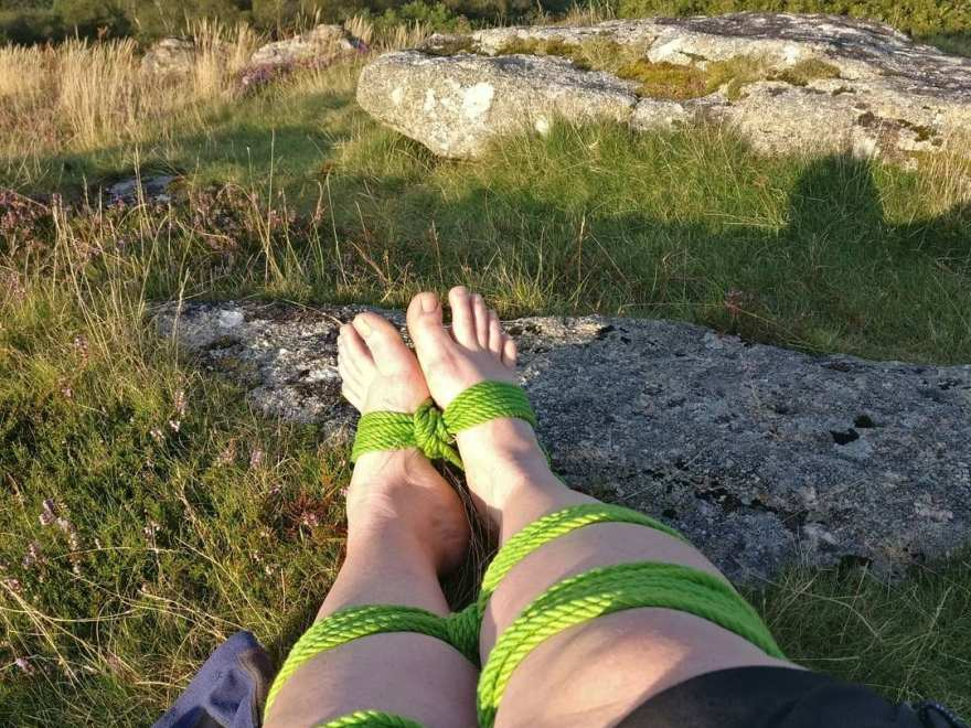 barefoot and bound for Tying in the great outdoors