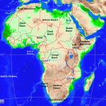 Africa Physical Map A Learning Family