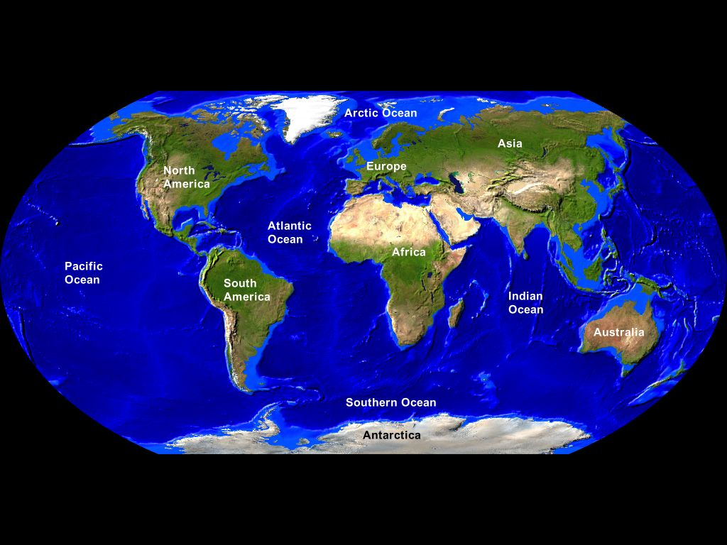 First Order Landforms Continents And Ocean Basins