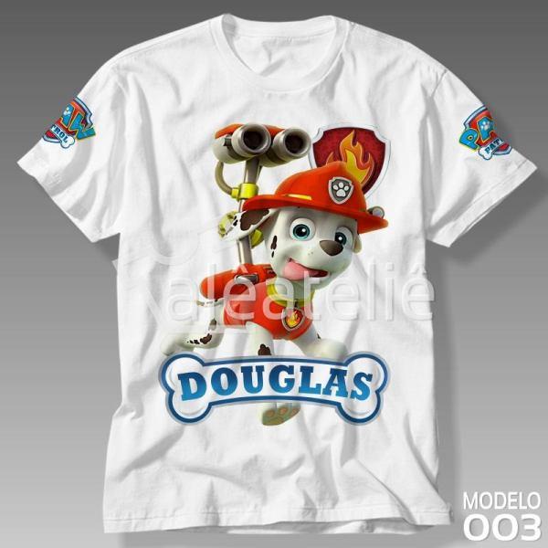 Camiseta Patrulha Canina Marshall