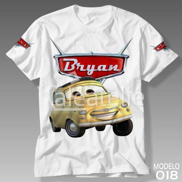 Camiseta Carros Disney Luigi