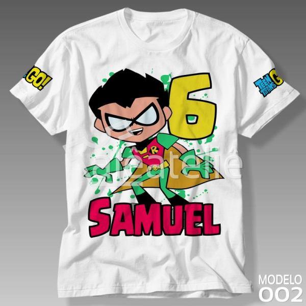 Camiseta Jovens Titans Robin