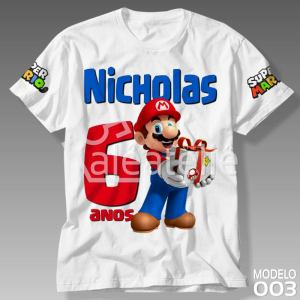 Camiseta Super Mario Bros 003
