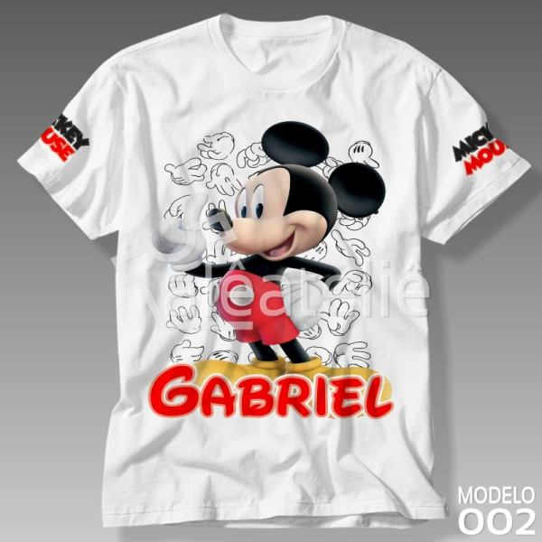 Camiseta Mickey Mouse Personalizada