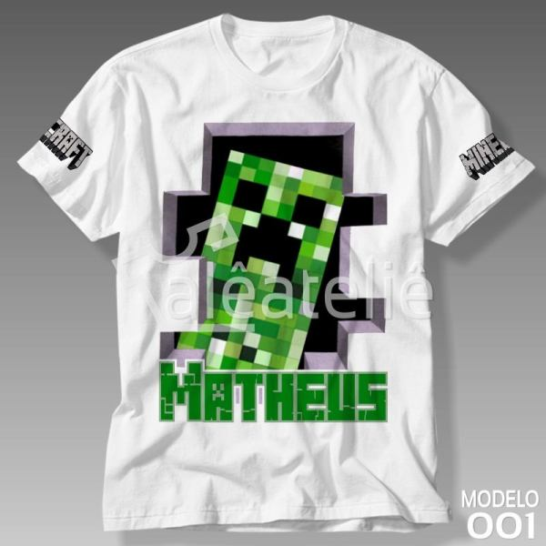 Camiseta Minecraft Creeper