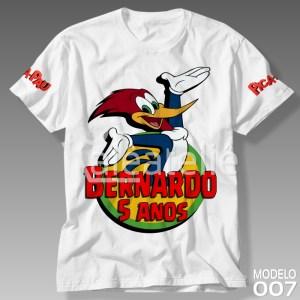 Camiseta Aniversário Pica Pau