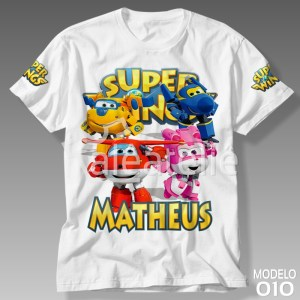 Camisa Super Wings Personalizada