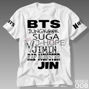 Camiseta Bts Integrantes